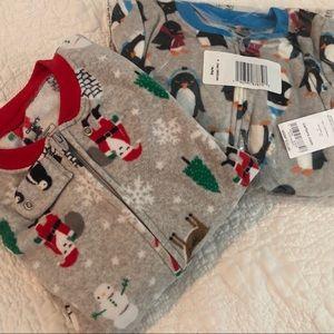 Carters fleece footie pajamas size 4T zip closure